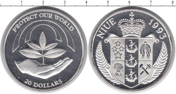 Картинка Монеты Ниуэ 20 долларов Серебро 1993
