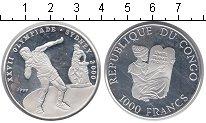 Изображение Монеты Конго 1.000 франков 1999 Серебро  Олимпиада-2000 в Сид