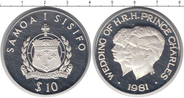Картинка Монеты Самоа 10 тала Серебро 1981