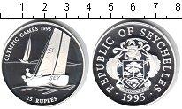 Изображение Монеты Сейшелы 25 рупий 1995 Серебро Proof Олимпиада-1996 в Атл