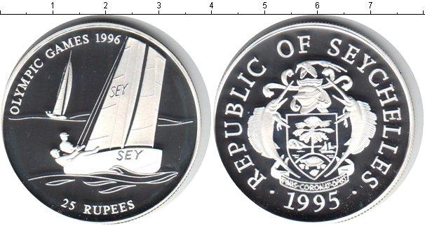 Картинка Монеты Сейшелы 25 рупий Серебро 1995