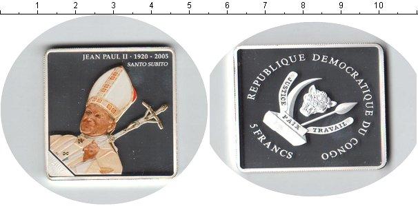 Картинка Монеты Конго 5 франков Посеребрение 2007