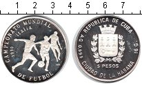 Изображение Монеты Куба 5 песо 1989 Серебро Proof- Италия 1990