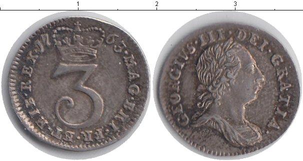 Картинка Монеты Великобритания 3 пенса Серебро 1763