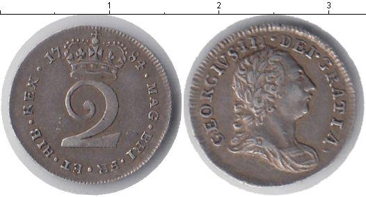 Картинка Монеты Великобритания 2 пенса Серебро 1784