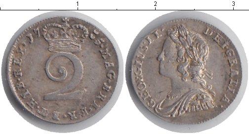 Картинка Монеты Великобритания 2 пенса Серебро 1735