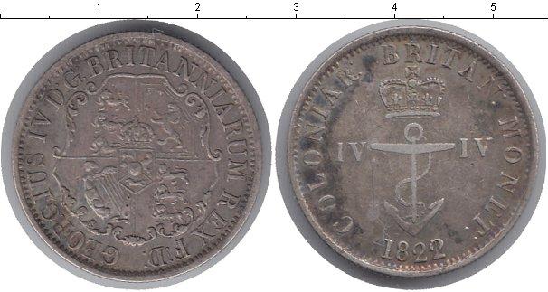 Картинка Монеты Великобритания 4 пенса Серебро 1822