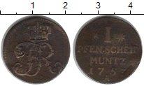Изображение Монеты Пруссия 1 пфенниг 1753 Медь  A
