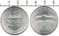 Изображение Монеты Сан-Марино 1000 лир 1989 Серебро UNC Гран-при Сан-Марино