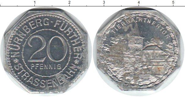Картинка Монеты Нюрнберг 20 пфеннигов Алюминий 0