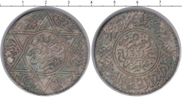 Картинка Монеты Марокко 1 риал Серебро 1331