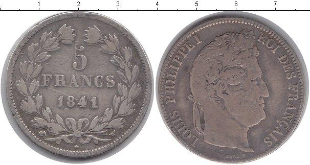 Картинка Монеты Франция 5 франков Серебро 1841