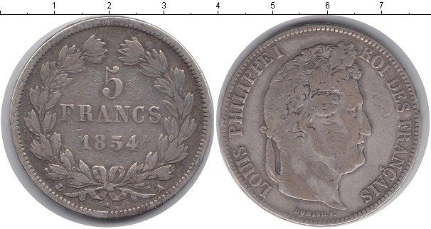 Картинка Монеты Франция 5 франков Серебро 1834