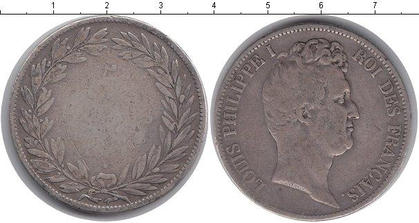 Картинка Монеты Франция 5 франков Серебро 1830