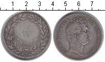 Изображение Монеты Франция 5 франков 1830 Серебро  Луи-Филипп I. W. KM#