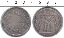 Изображение Монеты Франция 5 франков 1848 Серебро