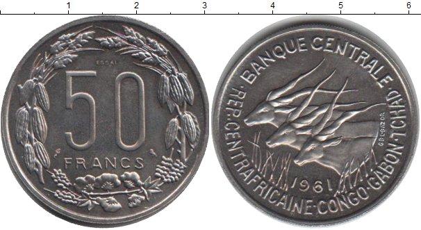 Картинка Монеты Центральная Африка 50 франков Медно-никель 1961