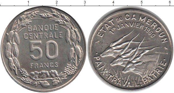 Картинка Монеты Камерун 50 франков Медно-никель 1960