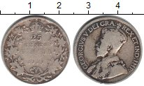 Изображение Монеты Канада 25 центов 1912 Серебро  Георг V