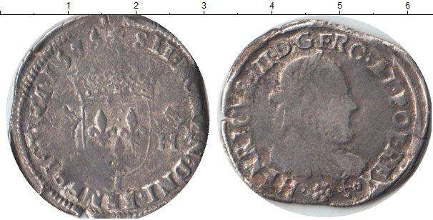 Картинка Монеты Франция 1 тестон Серебро 1574