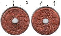 Изображение Монеты Индокитай 2 цента 1939 Медь XF Французский протекто