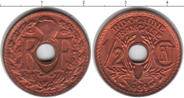 Картинка Монеты Индокитай 2 цента Медь 1939