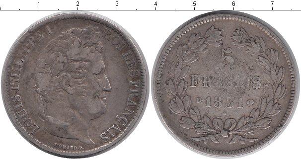 Картинка Монеты Франция 5 франков Серебро 1831