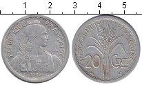 Изображение Мелочь Индокитай 20 центов 1945 Алюминий VF