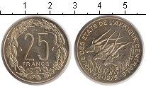 Изображение Монеты Центральная Африка КФА 25 франков 1975 Медно-никель UNC-