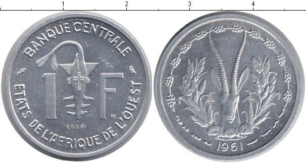 Картинка Монеты Западно-Африканский Союз 1 франк Алюминий 1961