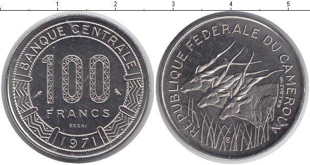 Картинка Монеты Камерун 100 франков Медно-никель 1971