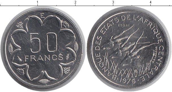 Картинка Монеты КФА 50 франков Медно-никель 1976