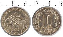 Изображение Монеты Центральная Африка КФА 10 франков 1974 Медно-никель UNC-