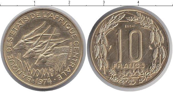 Картинка Монеты КФА 10 франков Медно-никель 1974
