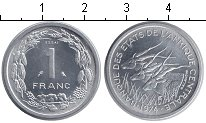 Изображение Монеты КФА 1 франк 1974 Алюминий
