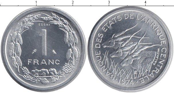 Картинка Монеты КФА 1 франк Алюминий 1974
