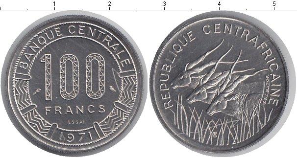 Картинка Монеты КФА 100 франков Медно-никель 1971