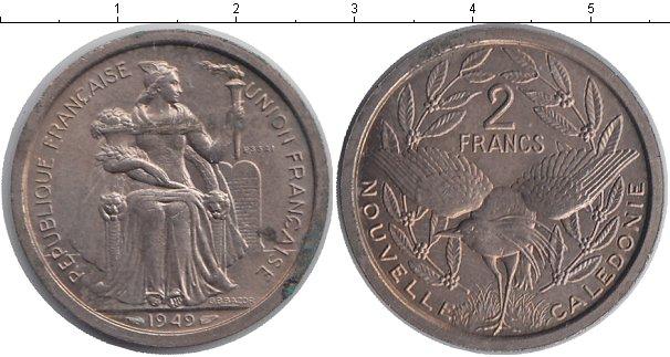 Картинка Монеты Новая Каледония 2 франка Алюминий 1949
