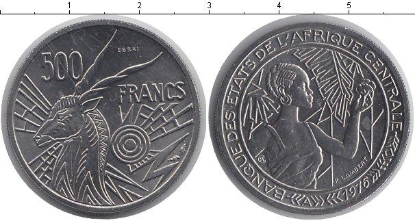 Картинка Монеты КФА 500 франков Медно-никель 1976