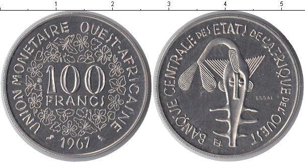 Картинка Монеты КФА 100 франков Медно-никель 1967
