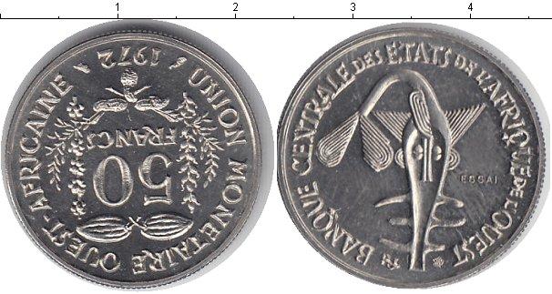 Картинка Монеты Западно-Африканский Союз 50 франков Медно-никель 1972