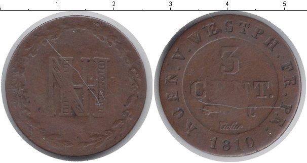 Картинка Монеты Вестфалия 3 сантима Медь 1810