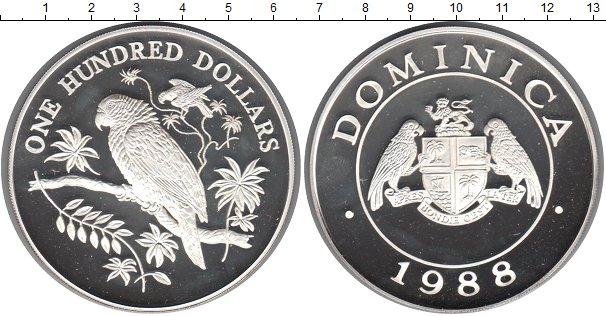 Картинка Монеты Доминиканская республика 100 долларов Серебро 1988