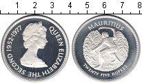 Изображение Монеты Маврикий 25 рупий 1977 Серебро Proof- Елизавета II