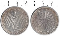 Изображение Мелочь ФРГ 10 марок 1972 Серебро XF Олимпиада-1972 в Мюн