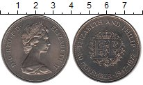 Изображение Мелочь Великобритания 25 новых пенсов 1972 Медно-никель UNC-