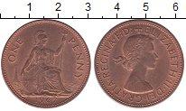 Изображение Мелочь Великобритания 1 пенни 1967 Медь XF Елизавета II