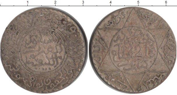 Картинка Монеты Марокко 1/2 риала Серебро 1321