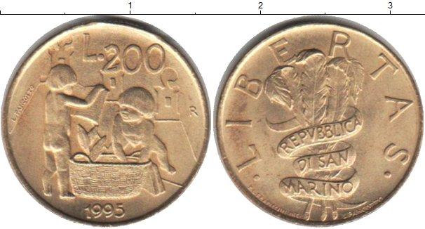 Картинка Мелочь Сан-Марино 200 лир Медно-никель 1995