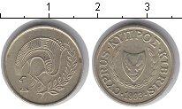 Изображение Мелочь Кипр 1 цент 1993 Медно-никель XF